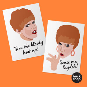 2x Charity Shop Sue inspired Greeting Cards