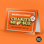 Happy Shopper - Charity Shop Sue inspired Greeting Card