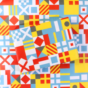 Nautical Flag Wrapping Paper