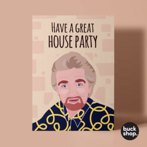 Noels House Party inspired Greeting Card by BuckShop.co.uk