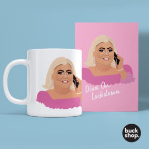 Diva On Lockdown - Gemma Collins inspired Greeting Card, Birthday Card, Quarantine Card by BuckShop.co.uk