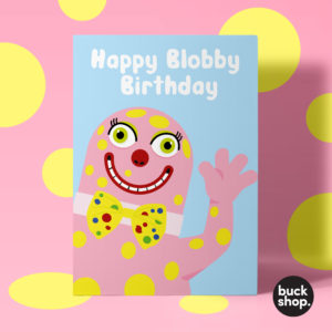 Happy Blobby Birthday - Mr Blobby inspired Birthday Card