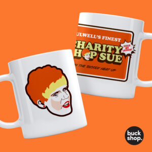 Charity Shop Sue - Happy Shopper Sue Mug