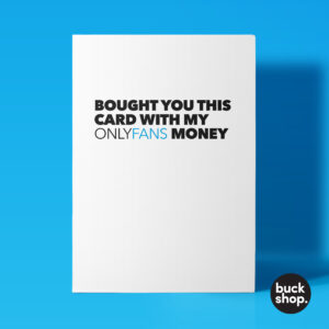 OnlyFans Greeting Card, Birthday Card