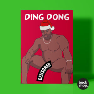 Ding Dong Barry Wood Meme - Christmas Card