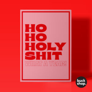 Ho Ho Holy Shit What a Year - Christmas Card, Greeting Card, Birthday Card